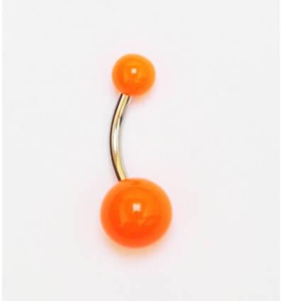 piercing do pupíku NEON - oranžový
