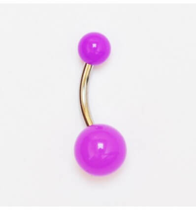 piercing do pupíku NEON - fialový