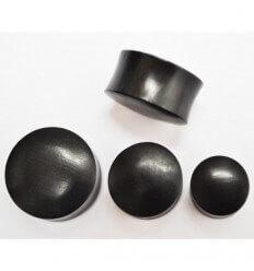 Ear plug - wooden - black
