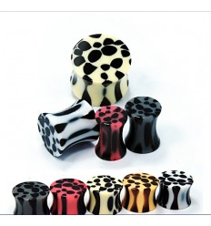 Plug do ucha - leopard - černo-bílý