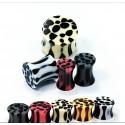 Oreillettes - léopard - noir et blanc