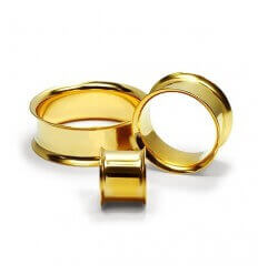 Ear Tunnel - Gold Plated