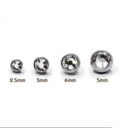 Microdermal piercing - kuličky