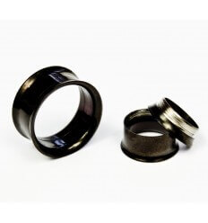 Steel ear tunnel - black