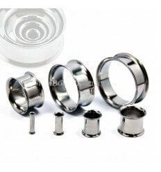 In-ear tunnel - surgical steel without rubber