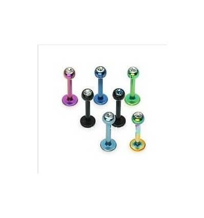 Labrety barevné s kamínkem