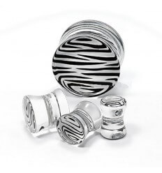 Plug in ear - zebra - transparent
