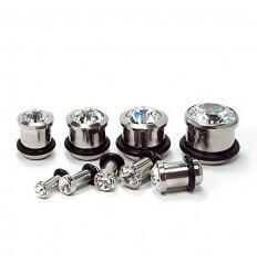 Ear Plug Crystal - Surgical Steel 316L