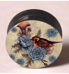 PLUG TO UCHA - BIRD AND BLUE FLOWERS