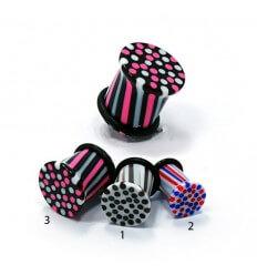 Ear Plug - Triple Stripes 1