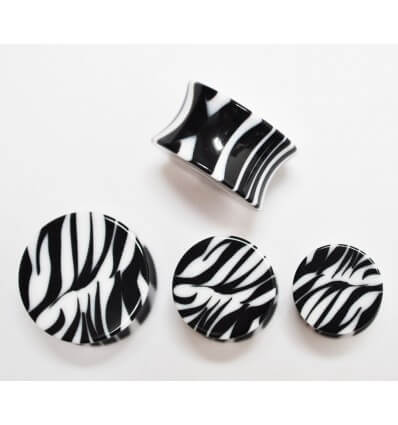 Plug do ucha - zebra