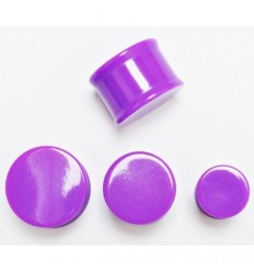 Plug do ucha neon - fialový