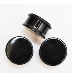 Akrylátový plug do ucha UV - černý