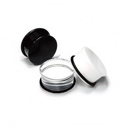 Plug do ucha UV akrylát - průhledný